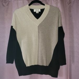 100% Cashmere color block sweater